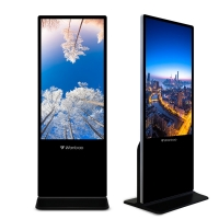 Quality 55 Inch Digital Signage Touch Screen Android Digital Advertising Display Tempered Glass Advertising Kiosk for sale