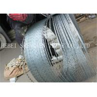Quality 22 mm Length Sharp Razor Barbed Wire Galvanized CBT - 65 Concertina For Fence for sale