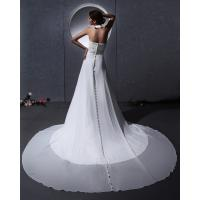Quality Elegant around the neck Chiffon Wedding Dresses with open back / cathedral train for sale