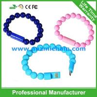 Quality New buddha beads design bracelet usb cable for sale
