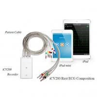 Quality Ipad V&H Simultaneous 12 Channel ECG Machine With Bluetooth Transmission for sale