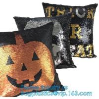 Quality Cushion Reusable Eco Bags Decorative Sequin Pillow Mermaid Reversible Sequin Pillow Cover for sale