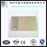 Quality 2014 Newest Engraving Silver Metal Business Card for sale
