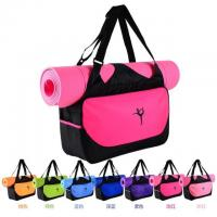Quality Promotional polyester girls sports dance gym yoga bags with mat for sale