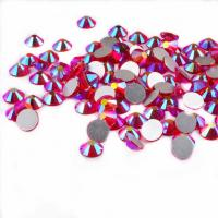 Quality 14 Facets Flat Back Rhinestone Beads Non Hot Fix Glass Material Round Shape for sale
