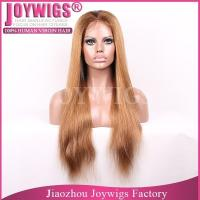 China Top grade wholesale Invisible knots Brazilian unprocessed hair silk base hand tied wig on sale