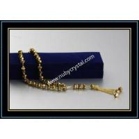 Quality Quartz Crystal Islamic Prayer Beads in Golden Color for sale