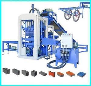 China QT4-15 Semi-automatic Concrete Block Making Machine, Concrete Block Brick Production Line on sale