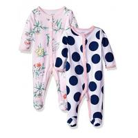 Quality Newborn  Dot printed  Roun- NeckBaby Rompers  Set Foot Secti for sale