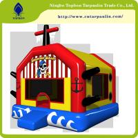 Quality hot sell  waterproof polyester pvc tarpaulin laminated for inflatable castles Tb004 for sale
