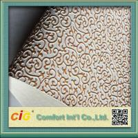 Quality 0.7mm Thick Waterproof Bag PVC Artificial Leather Embossed Synthetic for sale