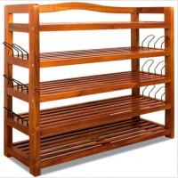 Buy cheap Floor Standing Wooden Shoe Holders Wooden Storage Shelving Units Painted product