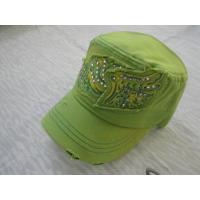 China Promotional Canvas / Cotton Baseball Caps For Girls, Patch Embroidery Ball CapsWith Velcro / Plastic Buckle on sale
