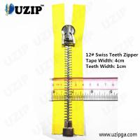 China Dark Anti Sliver No.12 Heavy Weight Metal Separating Zipper Big on sale