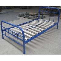 Quality Sing size simple metal frame bed, with eco-friendly wood slats,color customized for sale