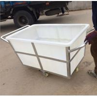 Quality K500liter Rotomolding Large square Plastic storage laundry carts and trolley with wheels for sale