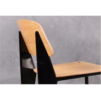 Quality Metal Frame Modern Wood Dining Chairs , Armless Dining Room Side Chairs for sale