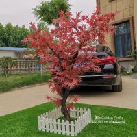 Fire Proof Artificial Maple Tree For Outdoor Yard Decoration No Termite for sale