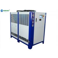 Quality Box type air source low temperature glycol water chiller for milk PHE for sale