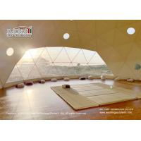 Quality Geodesic Dome Shape Luxury Glamping Tents With White Roof Cover And Glass Walls For Ourdoor Hotel for sale