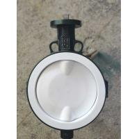 Quality White And Blue  PTFE lined butterfly valve ,  Ptfe Seat Butterfly Valve   Headless  Type DN40 - DN150 Size Customized for sale