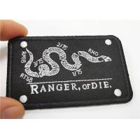 China Clear Colorful Iron On Embroidered Patches Smooth Merrow Border on sale