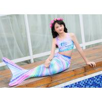 China Colorful Unicorn Mermaid Tails for Swimming Princess Bikini Bathing Suit Children's Day for 3-12Y on sale
