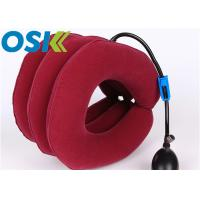 Quality Medical Cervical Support Brace Flannel Cloth Material With Rubber Tube Steel Valve for sale