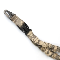 Quality Multi-Function Hunting Shooting Adjustable Tactical Single Point Bungee Gun Sling ACU Camo for sale