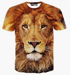 Quality Fashion Clothing Latest New Lion 3d Tshirt Wholesale Lion 3d T shirt For Men for sale