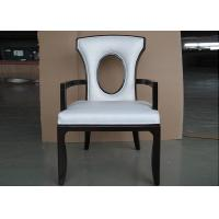 Quality Solid Wood Chair Modern Hotel Furniture For Restaurant with Leather Seat for sale