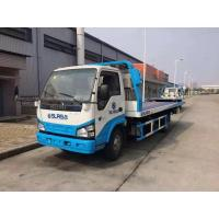 Quality 600P 4 Tons Flatbed Recovery Truck , Flatbed Wrecker Tow Truck Large Capacity for sale