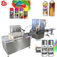 Buy cheap Automatic Aerosol Filling MachineProduction Line for Spray Paint 2000-3200cans/hr product