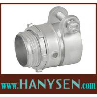 Quality Zinc Straight Squeeze Connector flexible conduit fitting for sale