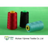 China Dyed 100 Spun Polyester Sewing Thread With Plastic / Paper Cone Wear Comfortable on sale