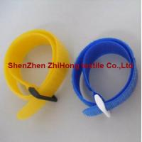 Quality Multi-colored self-locking Velcro hook loop buckle cable tie fastening tape for sale