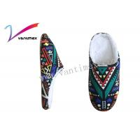 Quality Graffiti Color Ladies Mule Slippers / Bedroom Slippers For Women for sale