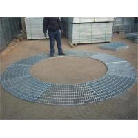 Quality Circular Sector Welded Steel Grating / Steel Catwalk Grating For Trees Protection for sale