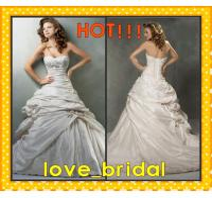 China A-line Sweetheart Beaded Appliqued Taffeta Buy Wedding Dresses Cheap Online on sale