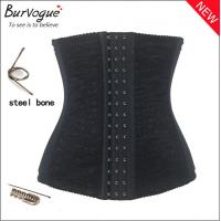 Buy 2014 new woman waist training shaper body slimming waist cinchers black lace corset girdles sexy body shapers for women at wholesale prices