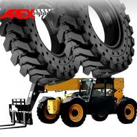 Quality APEX Telehandler Solid Tire for 20, 24, 25 inch Telescopic Handler Solid Cushion Tyre for sale