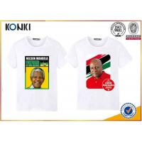 Quality Custom T Shirt Printing Polyester / Cotton Election Campaign T Shirts O Neck for sale