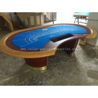 Buy cheap 84'' Redwood MDF Casino Baccarat Table Round Poker Table With Base product