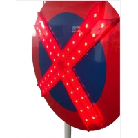 Quality 6V Lamps Aluminum LED Reflective Traffic Signs Red Waterproof for sale