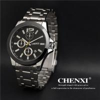 Quality Day Date Time Showing Gift Watch Big Stainless Steel Case Back Quartz Men Watch Wholesale for sale