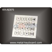 Buy cheap Ruggedized 16 Keys Stainless Steel Keypad Numeric with Top panel mounting product