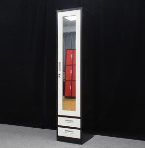 Quality Black And White Metal Wardrobe Lockers With 2 Drawer for sale