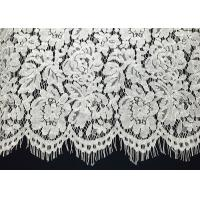 """Buy cheap Ivory Corded Eyelash Lace Trim With Width 65CM /26 """" Vintage Scalloped Floral from wholesalers"""
