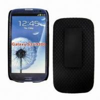 China Holster Combo for Samsung Galaxy s3, with Belt Clip and Rotated Kickstand, Ribbed Fishnet Texture on sale