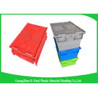 Quality Eco-friendly Stackable Heavy Duty Plastic Storage Containers With Attached Lids for sale